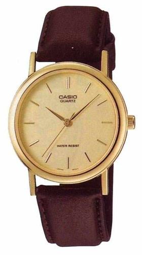 reloj casio mtp1095q-9a men's standard analog leather band