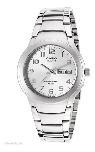 reloj casio mtp1229d-7a hombre silver dial stainless steel d