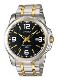 Reloj Casio Mtp1314 Metal Dorado Fechador Cristal Mineral