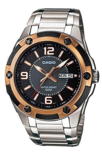 reloj casio mtp1327d-1a2v men's standard analog stainless