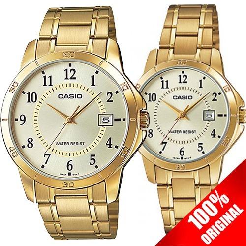 2cf6501d37a0 Reloj Casio Mtpv004 + Ltp V004 Acero Fechador Pareja Ideal ...