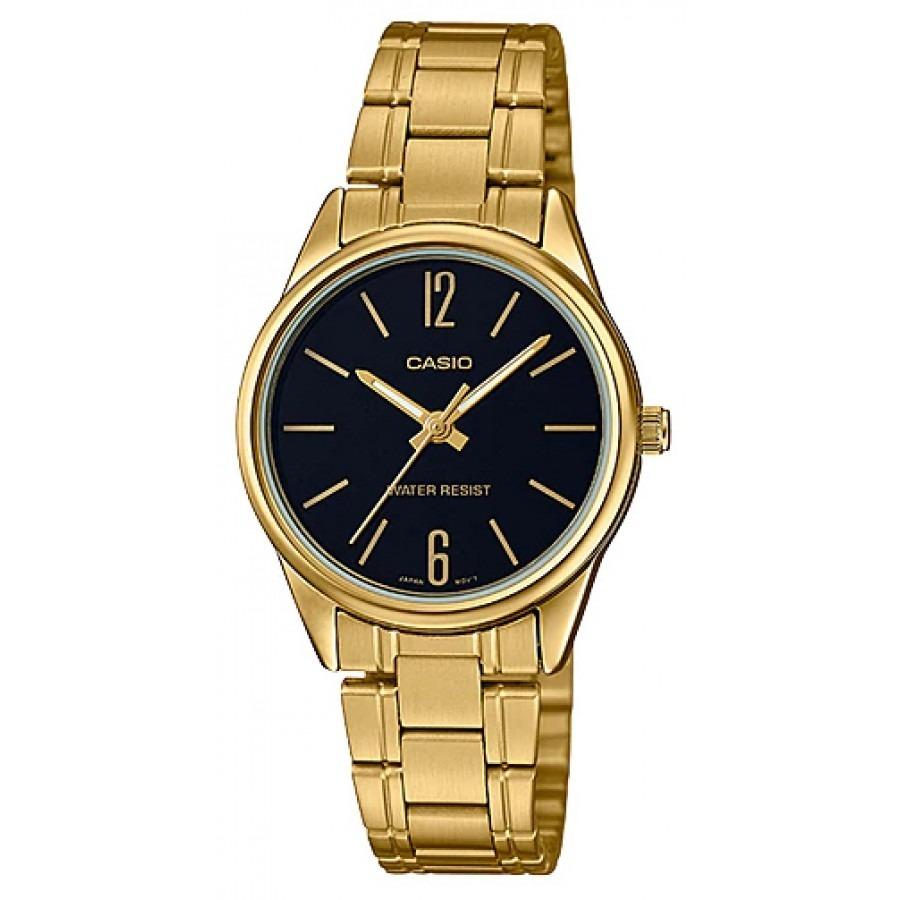 a7adec283cf4 Reloj Casio Ltp-v005g-1b Dorado Para Mujer -   89.900 en Mercado Libre