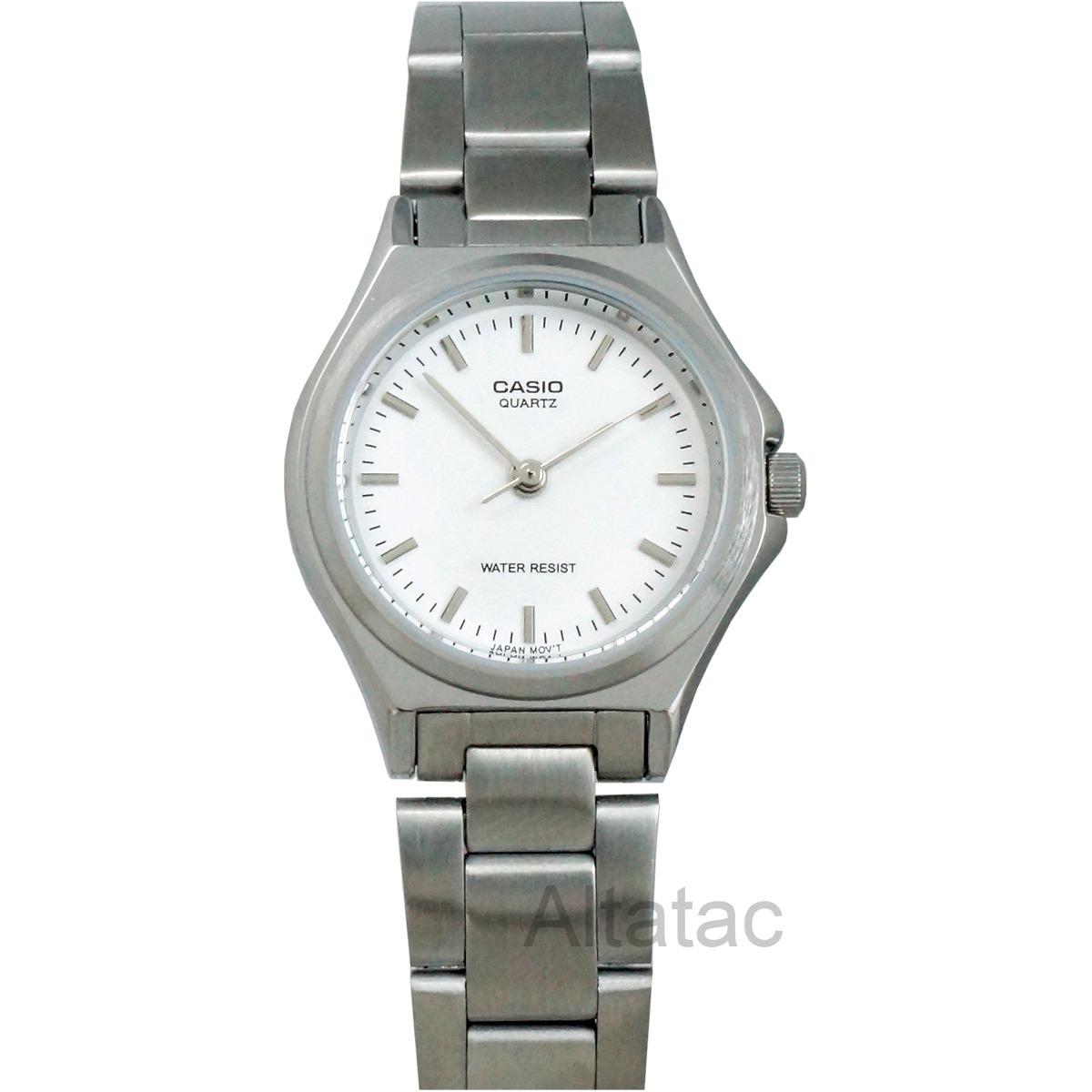 Características. Marca Casio  Modelo LTP-1130A  Género Dama  Material de la  correa del reloj pulsera Acero inoxidable ... efd2ac1f7a5a