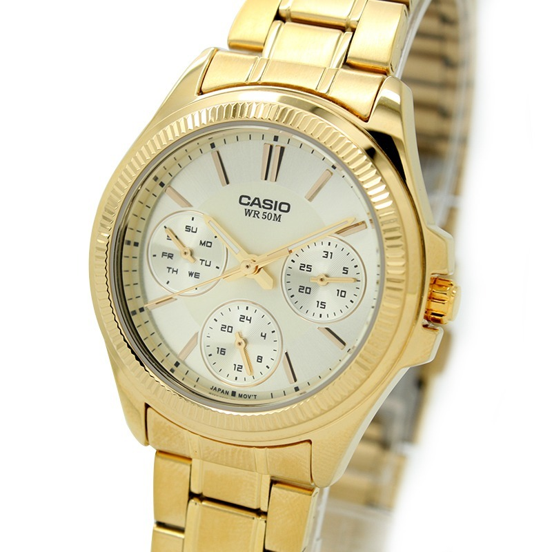 0ef31056dd6a Reloj Casio Ltp-2088g-9a-dorado Con Plateado Para Mujer -   209.900 ...