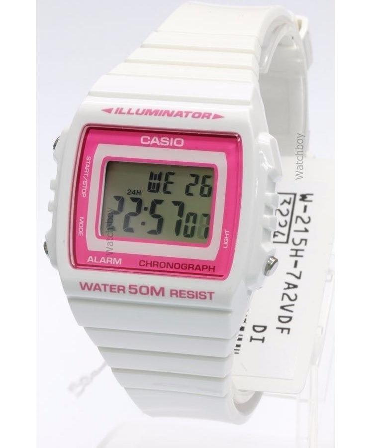 b209fdb5f97d reloj casio vintage w-215h-7a2 sumergible 50m mujer blanco · reloj casio  mujer. Cargando zoom.