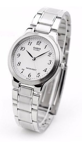 reloj casio mujer análogo con banda de acero