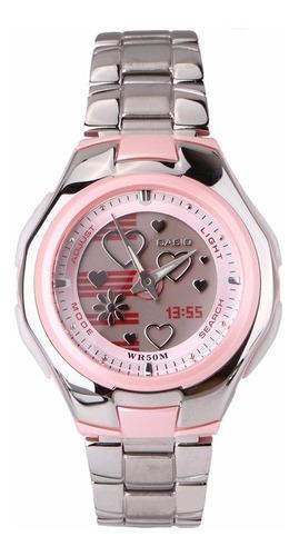reloj casio mujer lcf 10d poptone original garantía 10 años