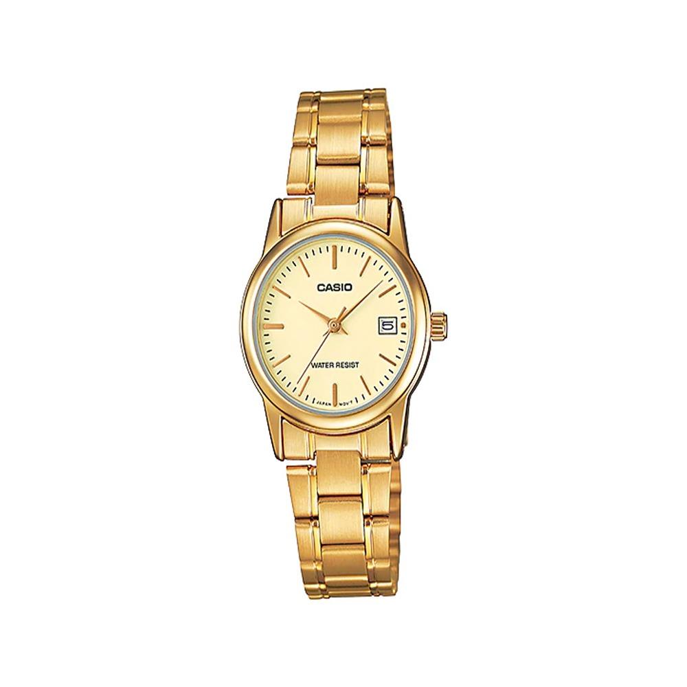 c7effb795134 reloj casio mujer ltp-v002g-9a análogo pulso metálico indica. Cargando zoom.