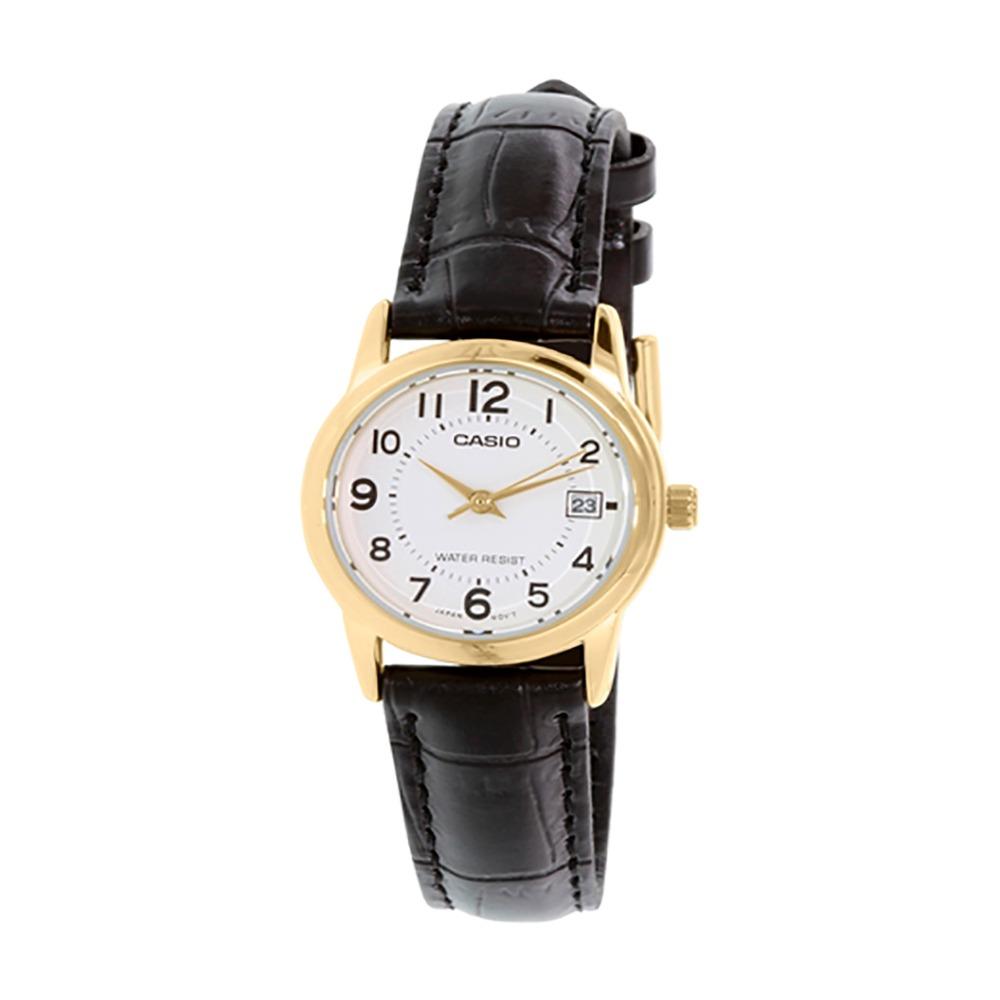 91565a5f7bd9 reloj casio mujer ltp-v002gl-7b análogo pulso cuero indicado. Cargando zoom.
