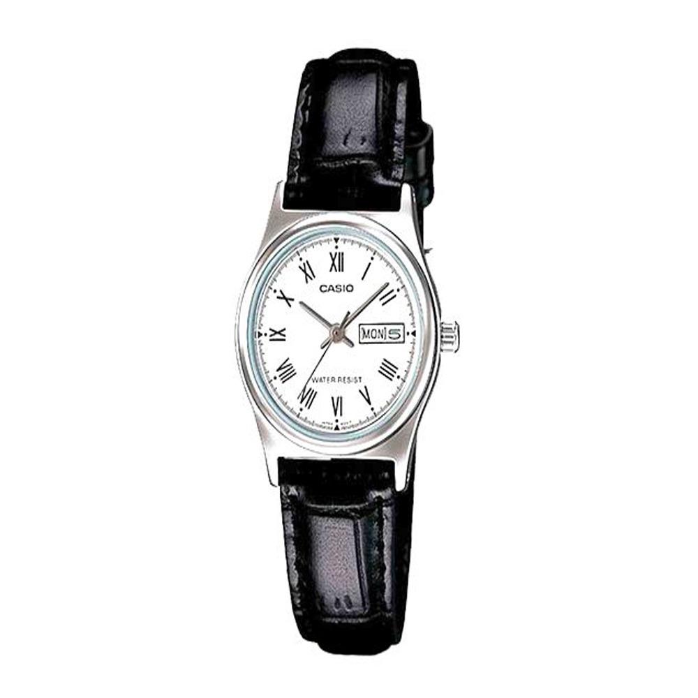 508096944ca8 reloj casio mujer ltp-v006l-7b análogo pulso cuero indicador. Cargando zoom.