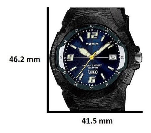 reloj casio mw-600f-7av resiste agua 100m garantia original
