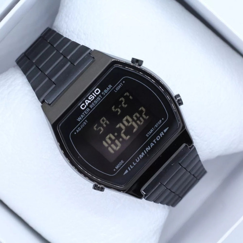 reloj casio negro b640 retro clásico