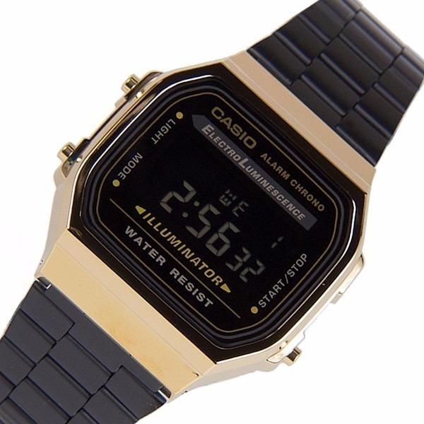4cab762dd2b9 Reloj Casio Negro Dorado A168 Retro Vintage Envio Gratis -   399.00 ...