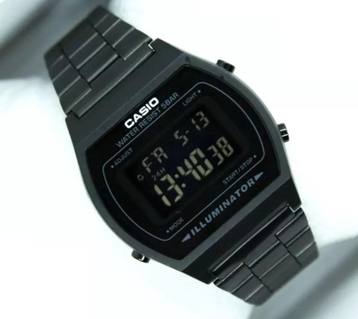 b7c974a3c935 Reloj Casio Negro Dorado Acero Retro Vintage -   349.00 en Mercado Libre