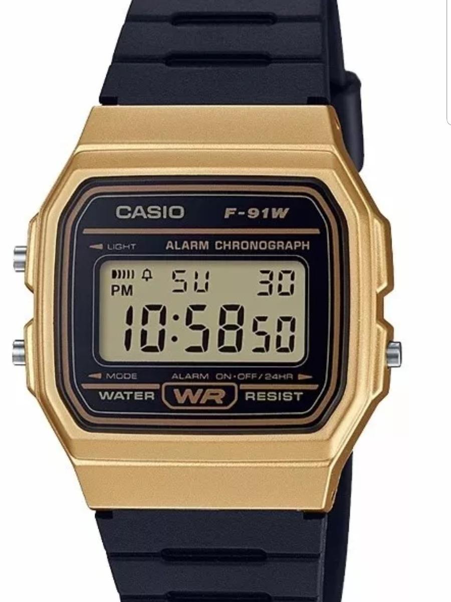 20b3ca096ff9 Reloj Casio Negro   Dorado Caucho F91 Clasico Vintage -   399.00 en ...