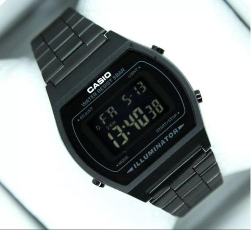reloj casio negro mate retro clasico  envío gratis