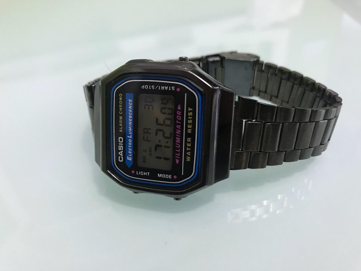 3148fa9f75c5 Reloj Casio Negro Metálico