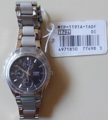 reloj casio original acero nuevo  caballero