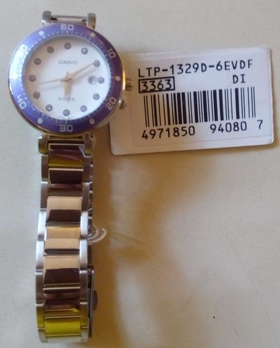 Casio De Dama 6evdf Nuevo Original Acero Ltp 1329d Reloj 0m8wOPyvNn