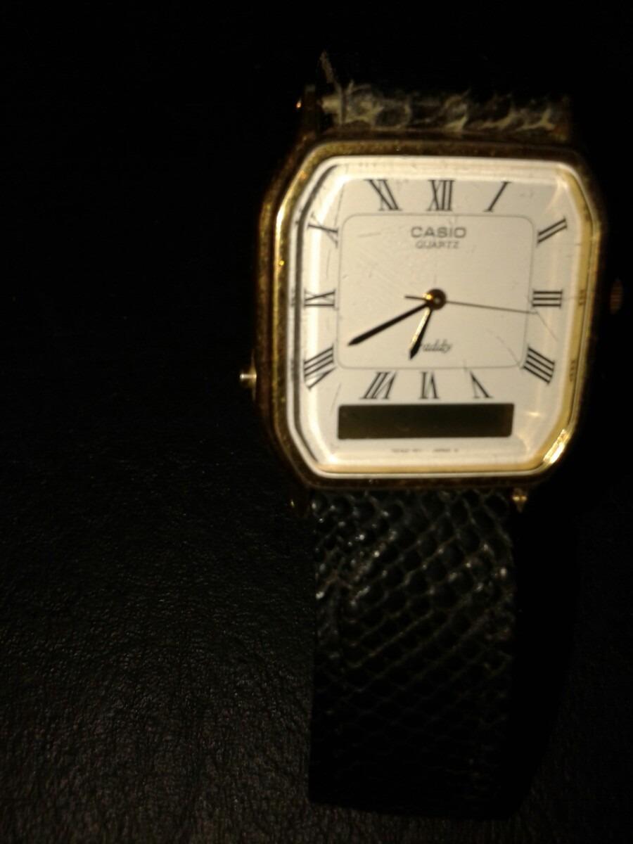 79c7758c6e41 reloj casio original aq-517g dual analogico digital vintage. Cargando zoom.