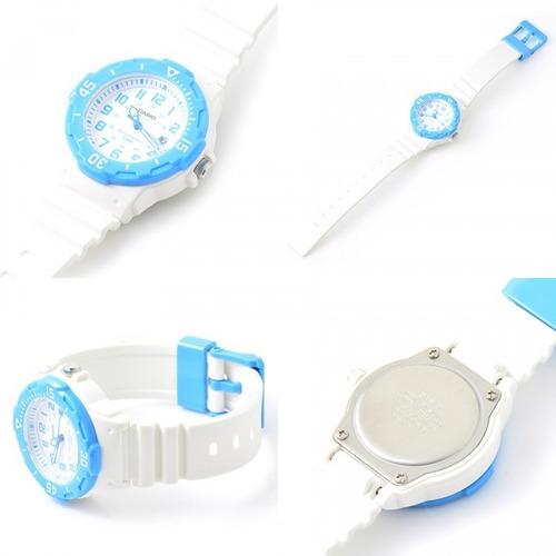 reloj casio original lrw-200h-2bvdf blanco azul
