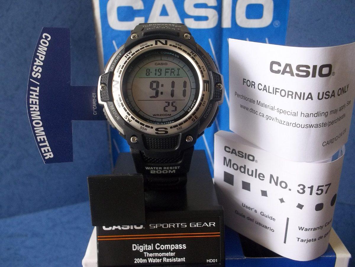 Casio Compass reloj Br煤jula Reloj Outgear Caucho Term Sgw100 mnN8wvO0