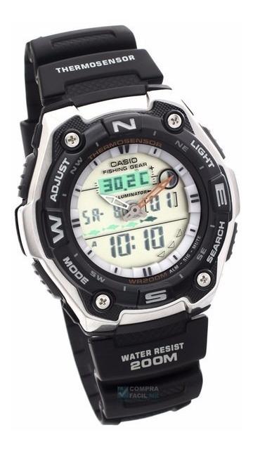 Casio Aqw101 Fases Cfmx Lunares Reloj Outgear Original nP0wOk