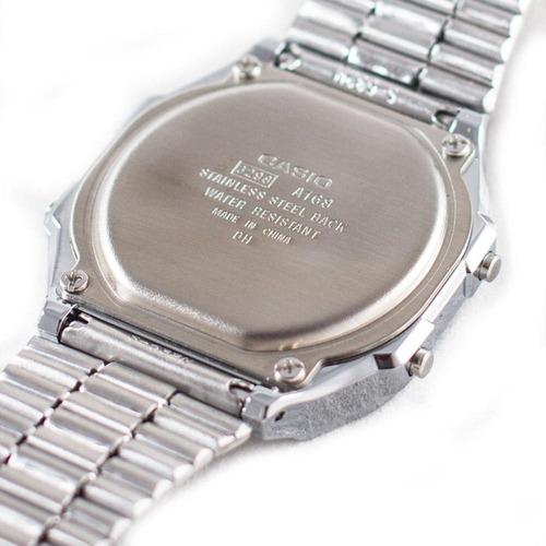 reloj casio outlet  a168wa-1 (caja cartón)