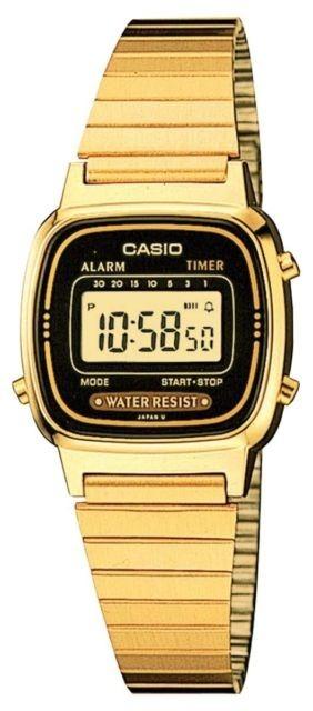 Reloj Casio Para Dama Vintage Mod. La670wga-1 Dorado negro ... fc6788acd320