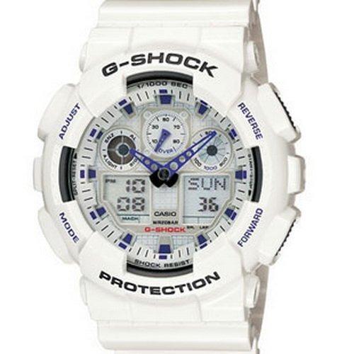 a5f01a43247f Reloj Casio Para Hombre Ga-100a-7a G-shock Color Blanco ...