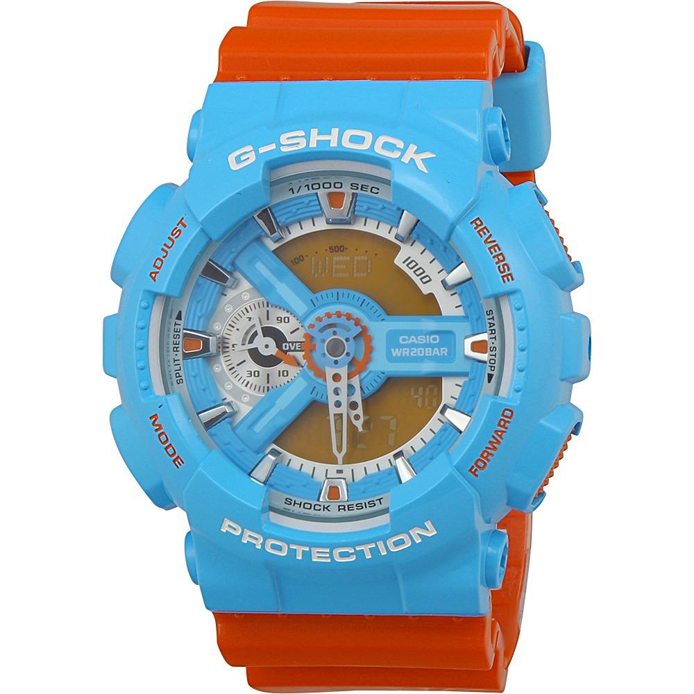 e6e059bd112b reloj casio para hombre ga110nc2a g-shock azul naranja. Cargando zoom.