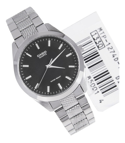 reloj casio para hombre mtp-1274d dial negro estilo formal