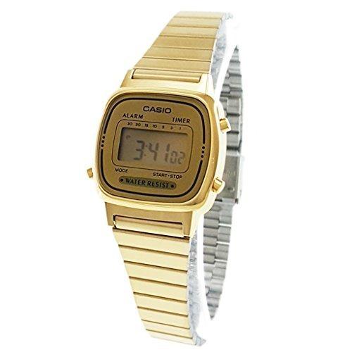 398f06579981 Reloj Casio Para Mujer La-670wg-9d Digital En Acero Dorado ...
