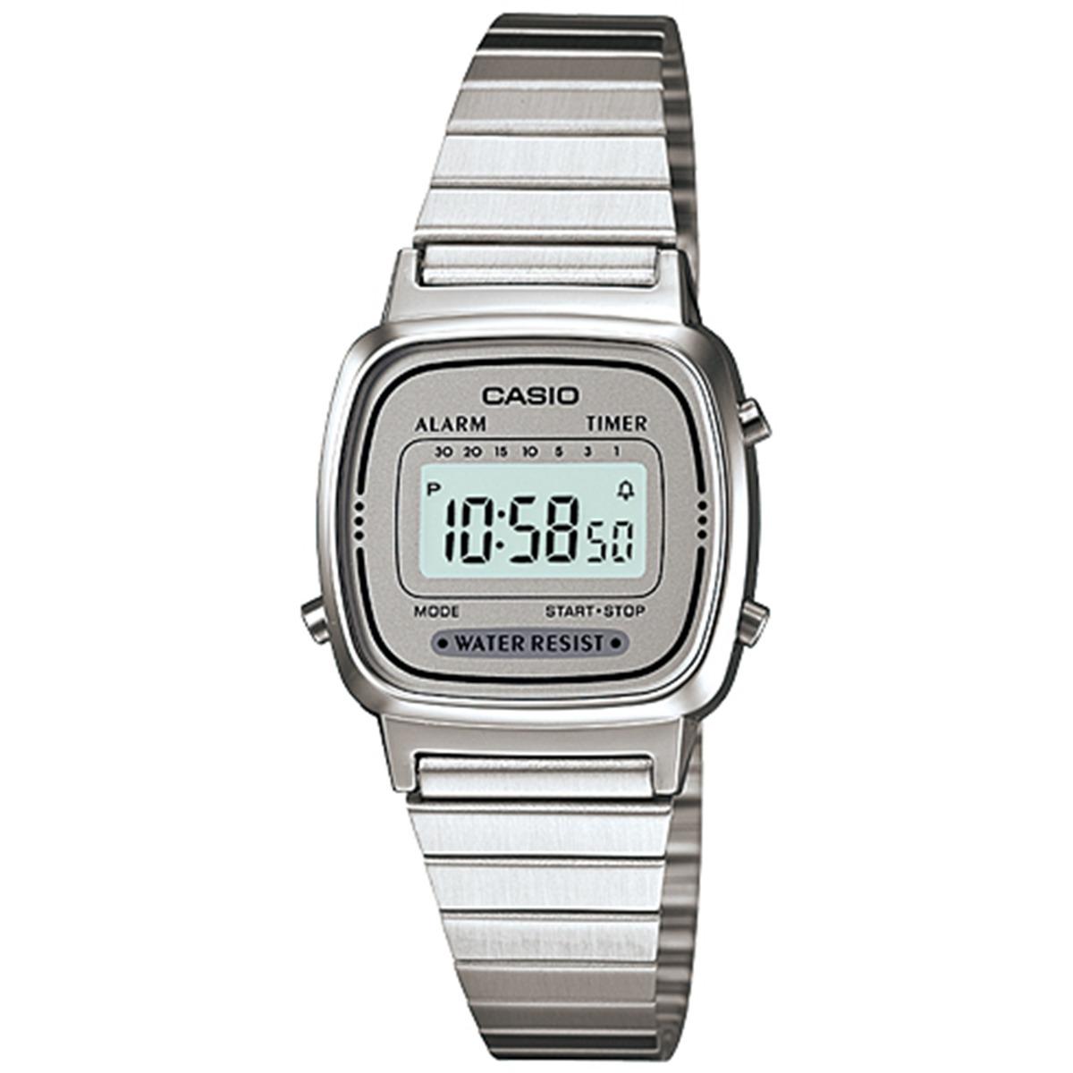 Reloj Casio Para Mujer La670wa 7 Illuminator Plateado En