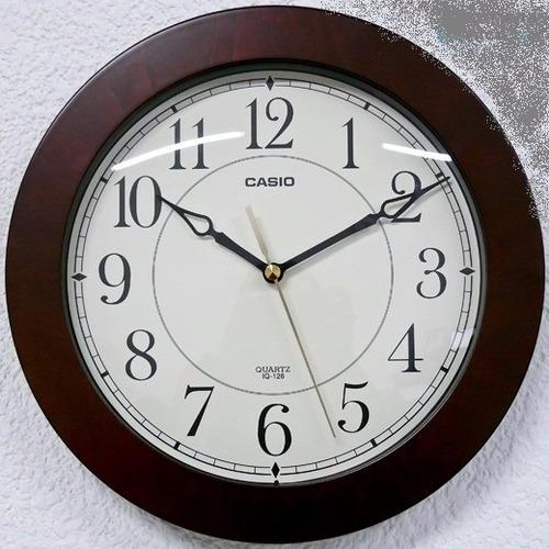 reloj casio pared  iq 126 diseño madera originales envios!!