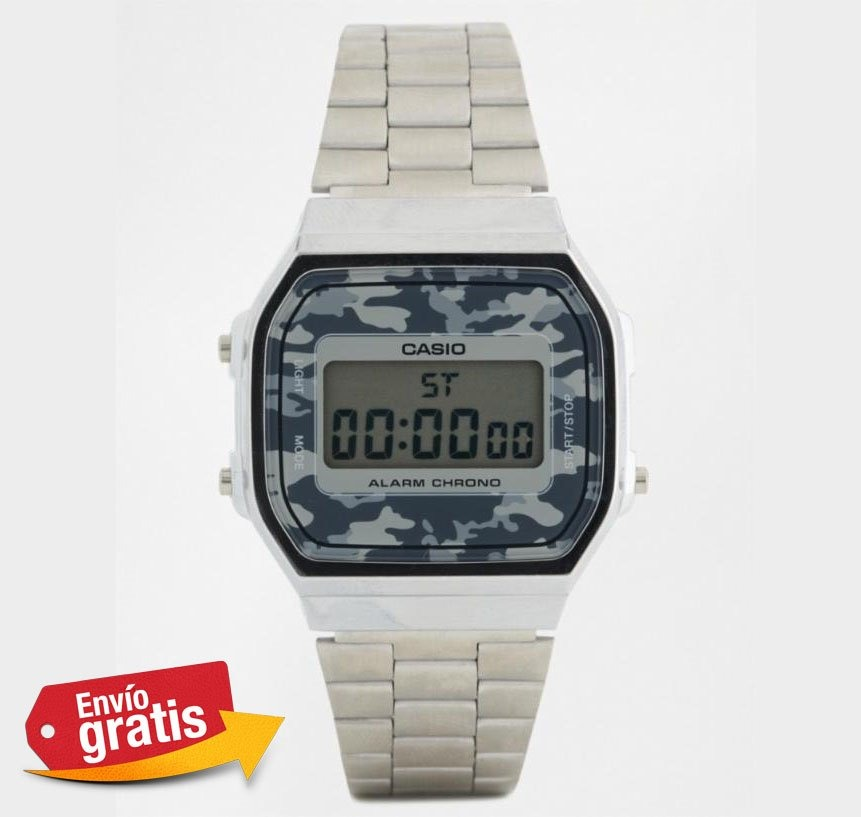 5859673ef8cf Reloj Casio Plata Camuflaje Gris azul Envio Gratis -   399.00 en ...