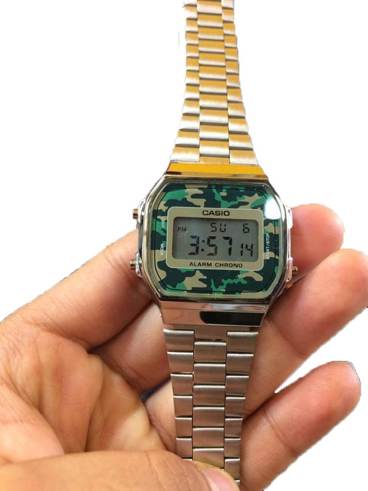 4d52cbb3cb76 Reloj Casio Plata Camuflaje Verde Envio Gratis -   399.00 en Mercado ...