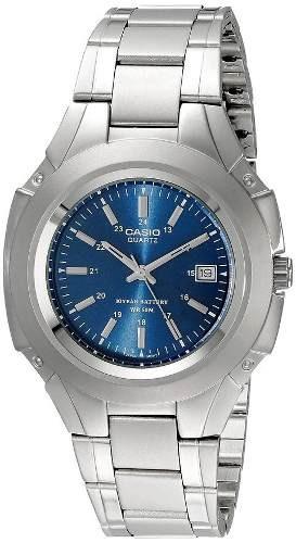 reloj casio plateado - azul