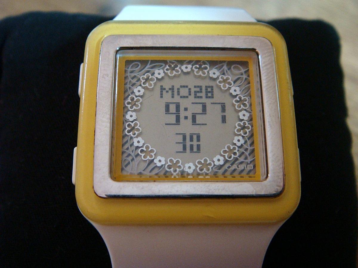 d89cf7d39a28 Reloj Casio Poptone Ldf-23. Bco-amarillo. -   599.00 en Mercado Libre