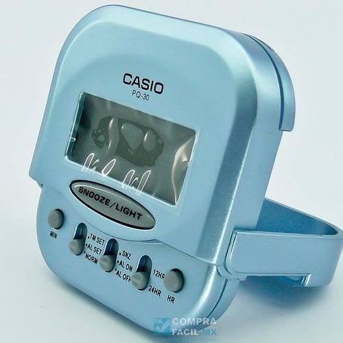 reloj casio pq30 despertador viajero,original