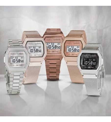reloj casio premium vintage perla a1000rg-5