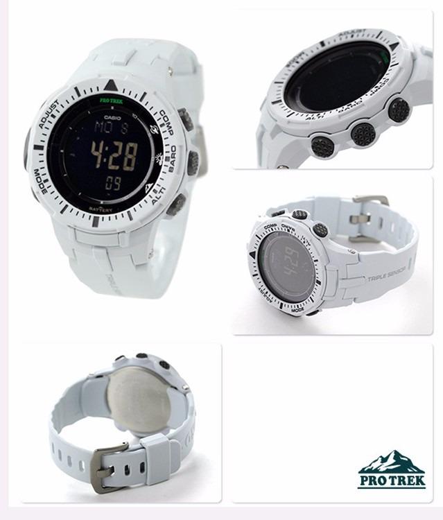 64704c7f1676 Reloj Casio Prg-300-7cr Pro Trek 47mm Solar Triple Sensor - S  599 ...