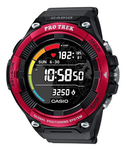 reloj casio protrek smart watch wsd-f21hr-rdbgu
