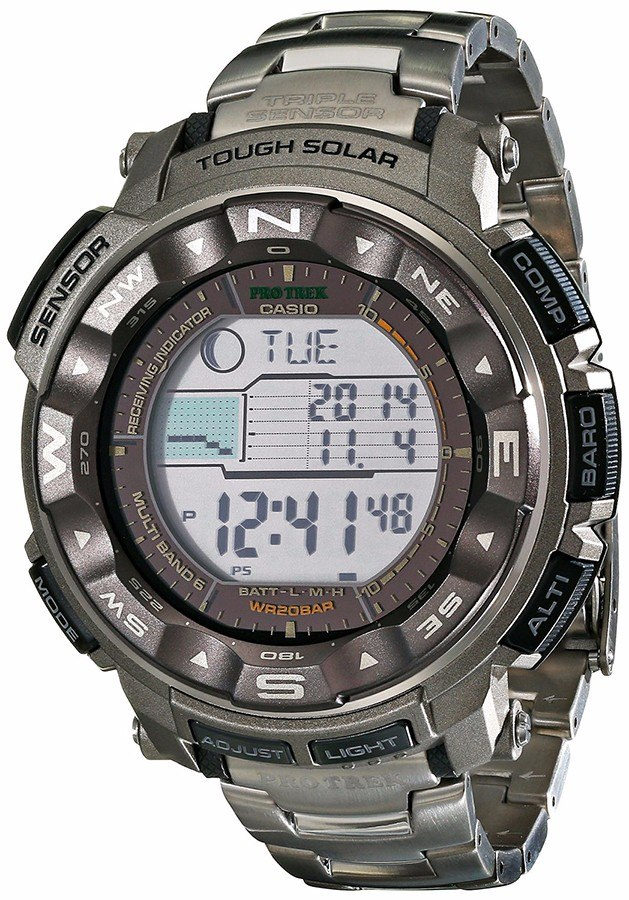 83f4622331c9 Reloj Casio Prw-2500t-7wc Pro Trek Tough Solar Triple Sensor - S ...