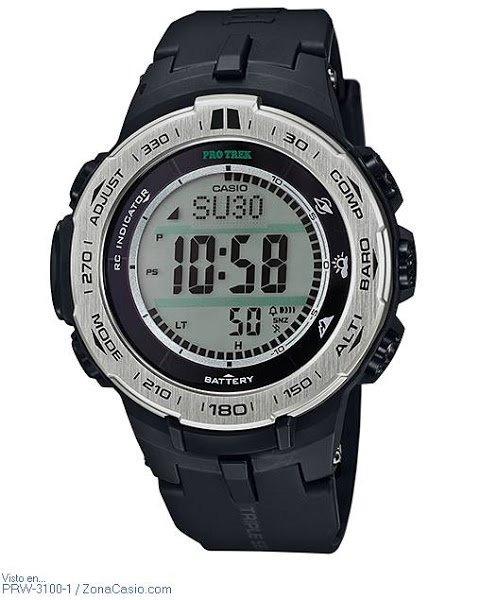 3100 En Prw Nuevo Caja27 000 Protrek Reloj Altimetro Casio 00 Solar 8m0Nwn