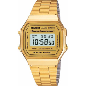 Reloj Casio Retro A-168wg-9w Originales Local Belgrano
