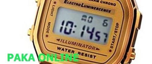 reloj casio retro a-168wg-9w originales local belgrano
