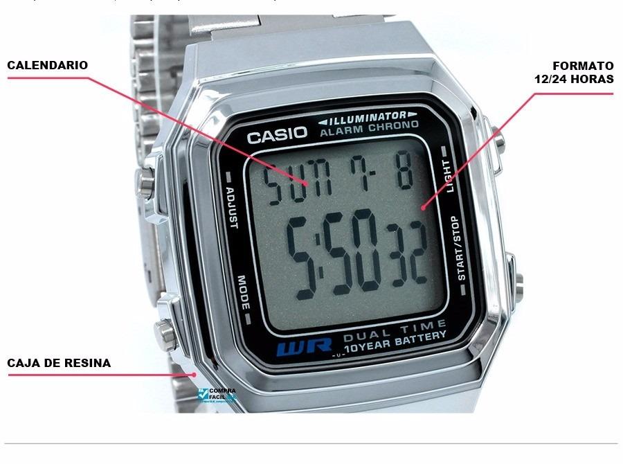 2d844eecdb0c Reloj Casio Retro A 178 Plateado Unisex Original -   74.900 en ...
