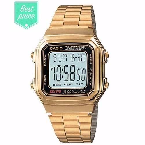 4af3f6adb6e0 Reloj Casio Retro A178 Dorado - Original - Nuevo - Unisex -   899.00 ...