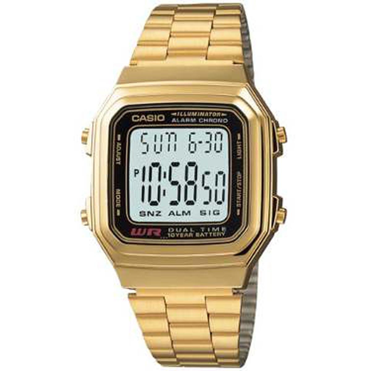 e4e77880953e reloj casio retro a178wga dorado clásico unisex garantia 5 a. Cargando zoom.